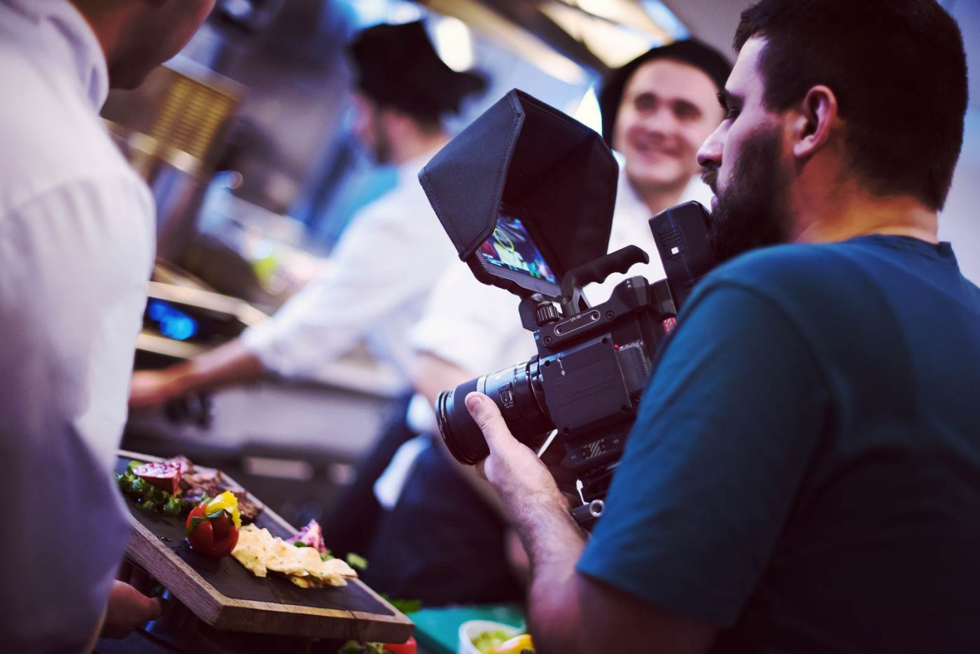 commercial videography team shoots video in Frisco